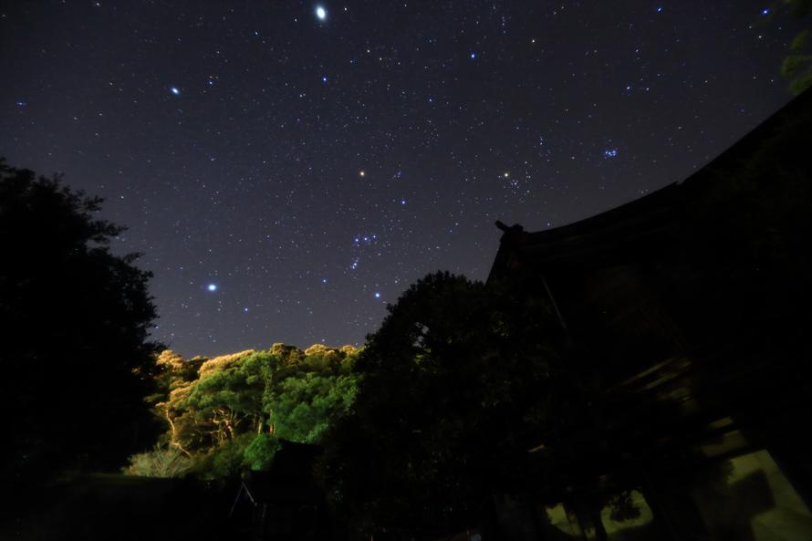 美保神社,冬の夜空 野島幹(島根県)